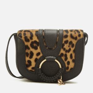 See By Chloé Women's Hana Leopard Cross Body Bag - Black