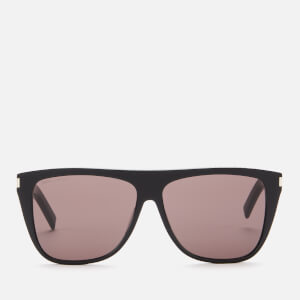 Saint Laurent Men's Square Frame Acetate Sunglasses - Black/Grey