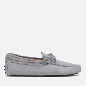 Tod's Men's Suede Lace Tie Gommini Driving Shoes - Grey