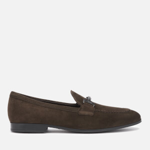 Tod's Men's Suede Doppia T Loafers - Brown