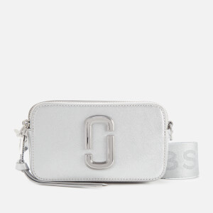 Marc Jacobs Women's Snapshot DTM Metallic Cross Body Bag - Silver