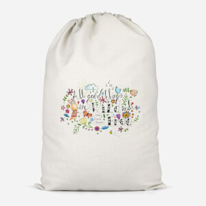 All Good Things Are Wild And Free Cotton Storage Bag