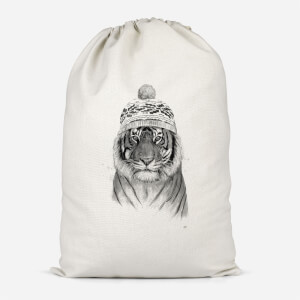 Winter Tiger Cotton Storage Bag