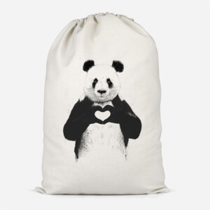 Panda Love Cotton Storage Bag