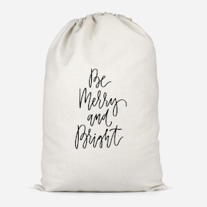 Be Merry And Bright Cotton Storage Bag