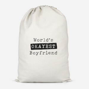 World's Okayest Boyfriend Cotton Storage Bag
