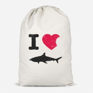 I Love Sharks Cotton Storage Bag