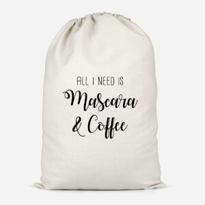 All I Need Is Mascara And Coffee Cotton Storage Bag