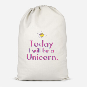 Today I Will Be A Unicorn Cotton Storage Bag
