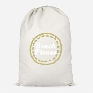 Beach Please Cotton Storage Bag