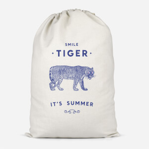 Smile Tiger Cotton Storage Bag
