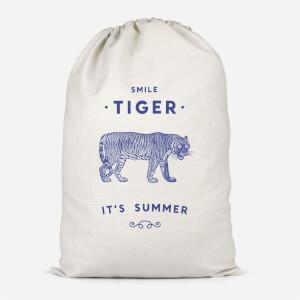 Smile Tiger Cotton Storage Bag