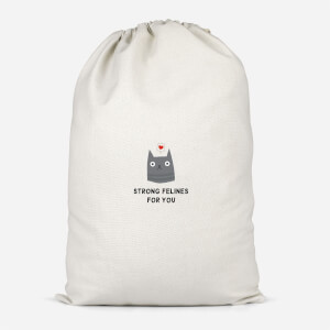 Strong Felines For You Cotton Storage Bag