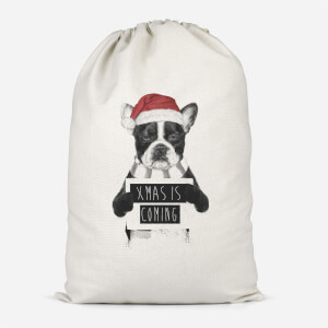 Xmas Is Coming Cotton Storage Bag