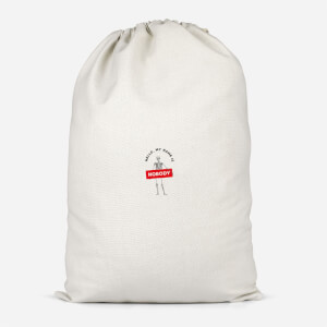 Hello, My Name Is Nobody Cotton Storage Bag