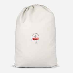 Hello, My Name Is Nobody Cotton Storage Bag