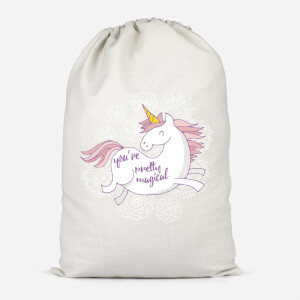 You Are Pretty Magical Unicorn Cotton Storage Bag