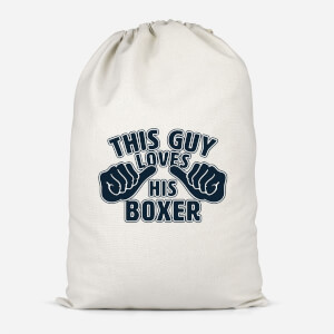 This Guy Loves His Boxer Cotton Storage Bag