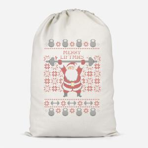 Merry Liftmas Cotton Storage Bag