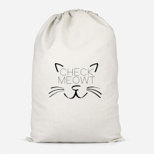 Check Meowt Cotton Storage Bag