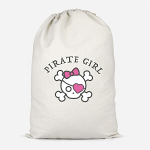 Pirate Girl Cotton Storage Bag