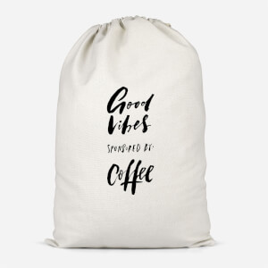 Good Vibes Sponsored By Coffee Cotton Storage Bag
