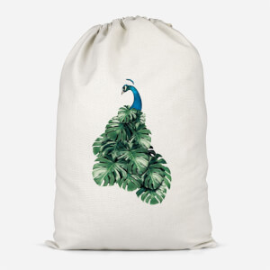 Peacock Cotton Storage Bag