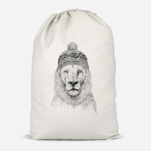 Lion With Hat Cotton Storage Bag