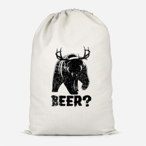 Beer Bear Deer Cotton Storage Bag