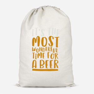 It's The Most Wonderful Time For A Beer Cotton Storage Bag