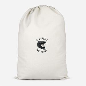 In Gravity We Trust Pocket Cotton Storage Bag