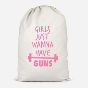 Girls Just Wanna Have Guns Cotton Storage Bag