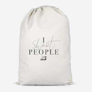 I Shoot People Cotton Storage Bag