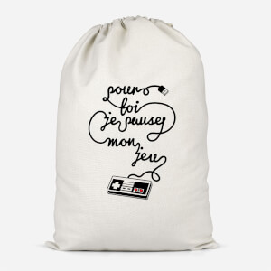 I'd Pause My Game For You (FR) Cotton Storage Bag