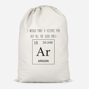 Periodic Pun Cotton Storage Bag