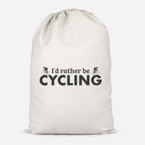 I'd Rather Be Cycling Cotton Storage Bag