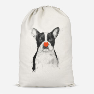 Red Nosed Bulldog Cotton Storage Bag