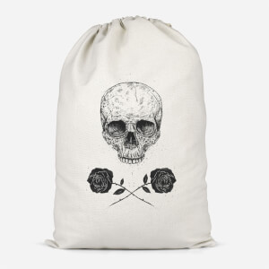Skull And Roses Cotton Storage Bag