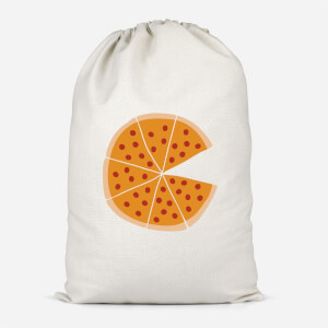 Pizza Missing Cotton Storage Bag