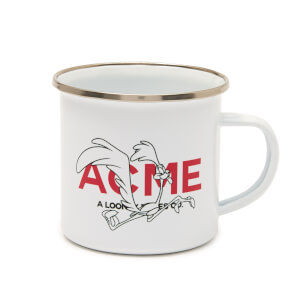 Looney Tunes ACME Capsule Road Runner Enamel Mug - White