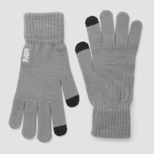 Knitted Gloves - Grey