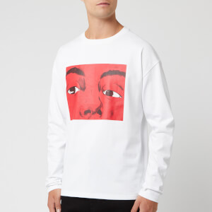 JW Anderson Men's Eyes Printed Long Sleeves T-Shirt - White