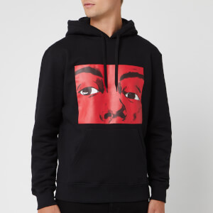 JW Anderson Men's Eyes Printed Hoodie - Black