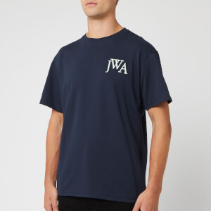 JW Anderson Men's JWA Embroidery Logo T-Shirt - Navy