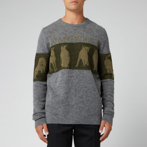 JW Anderson Men's JWA Animal Logo Jumper - Fossil