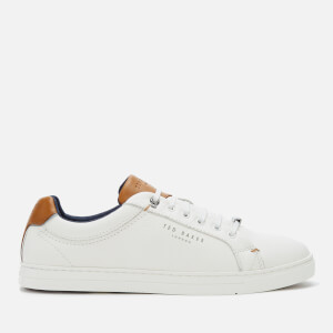 Ted Baker Men's Thwally Leather Low Top Trainers - White
