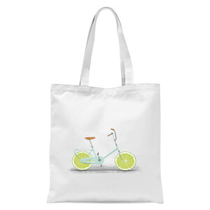 Citrus Lime Tote Bag - White