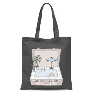 Pool To Go Tote Bag - Grey