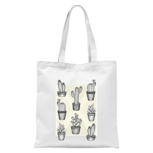 Prickly Friends Tote Bag - White
