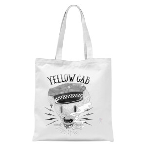 Yellow Cab Hyena Tote Bag - White